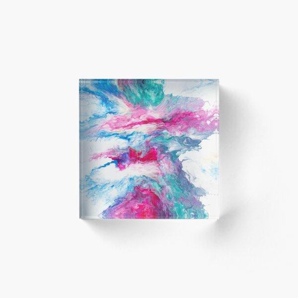 Magenta Clouds Acrylic Block