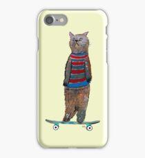 the cat skate  iPhone Case/Skin