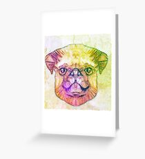 abstract pug puppy  Greeting Card