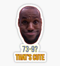 Lebron James Funny  Sticker