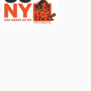 Oma - Red GGNY Hero Sticker by GayGeeksNY
