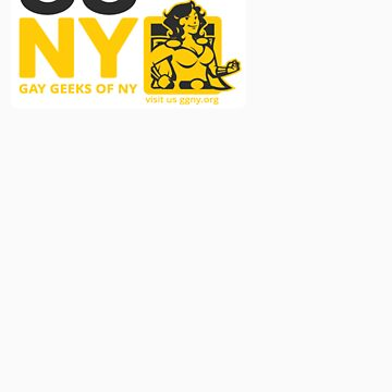 Oma - Yellow GGNY Hero Sticker by GayGeeksNY