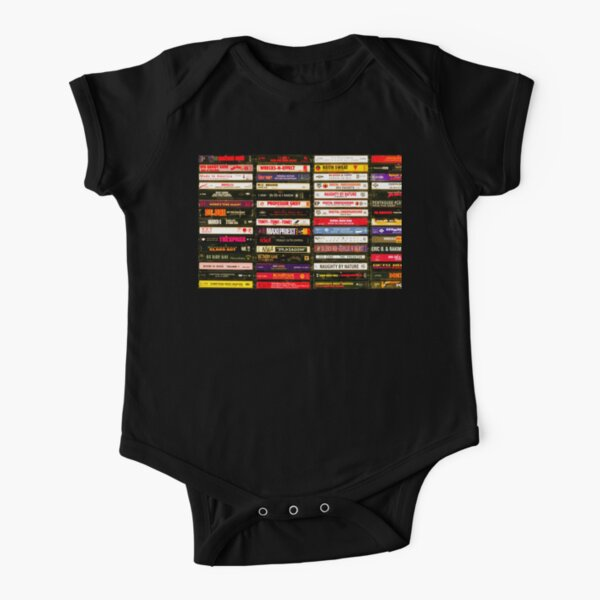 Hip Hop Tapes Short Sleeve Baby One-Piece