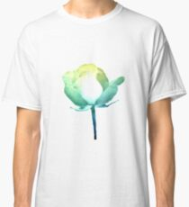 Teal and Gold Long Stem Rose Classic T-Shirt