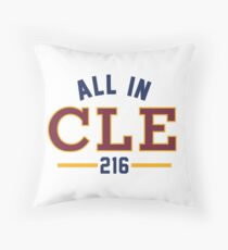 All in CLE 216 Throw Pillow