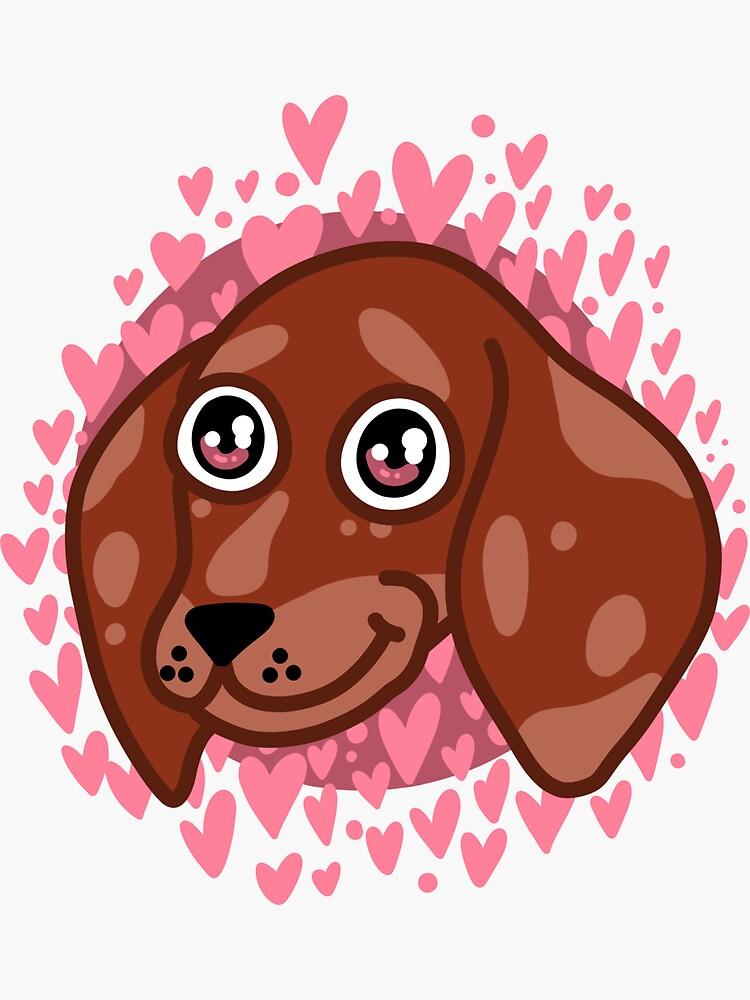 Lovey Dovey Sausage Dog by ArtByMosh