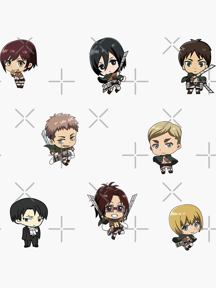 AOT STİCKER PACK Sticker AOT Characters sticker pack  by lotfix
