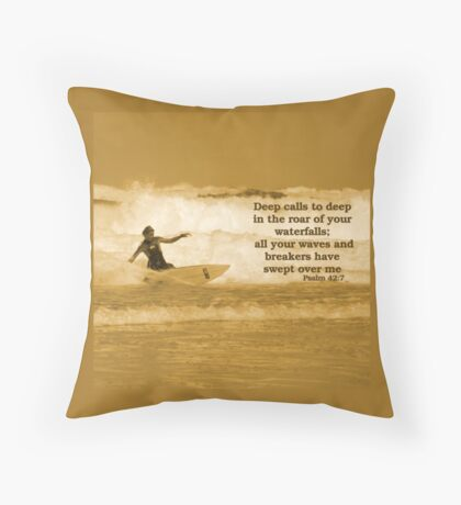 Waves and Breakers Throw Pillow