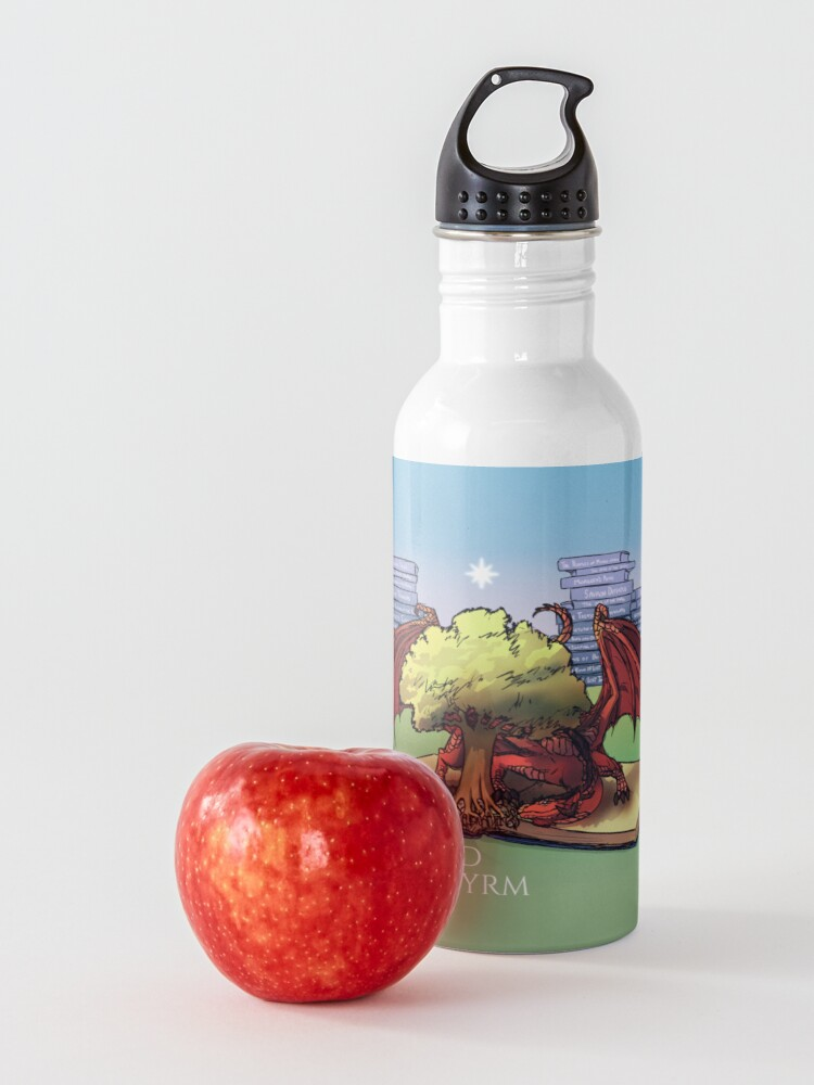 Alternate view of Mythgard Bookwyrm Water Bottle