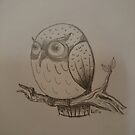 Owl on branch by bluemagic