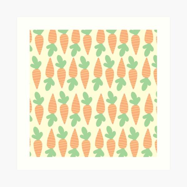 Cute Carrots Art Print