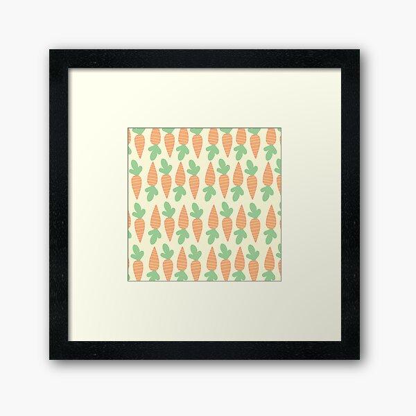 Cute Carrots Framed Art Print