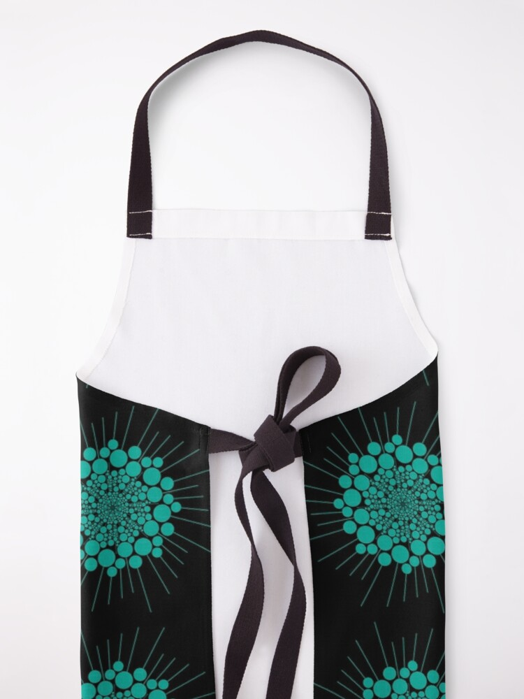 Alternate view of Teal Bubble Sun Abstract  Apron