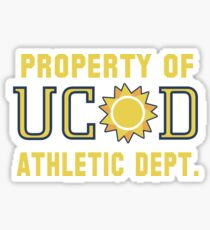 Property of UCSD Athletic Dept. Sticker
