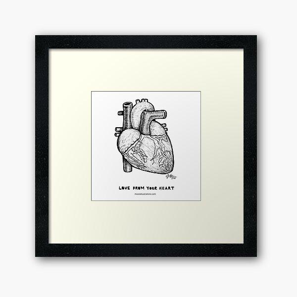 Love From Your Heart Framed Art Print