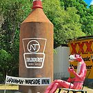 The Big Pink Panther and the Big Beer Bottle by peasticks