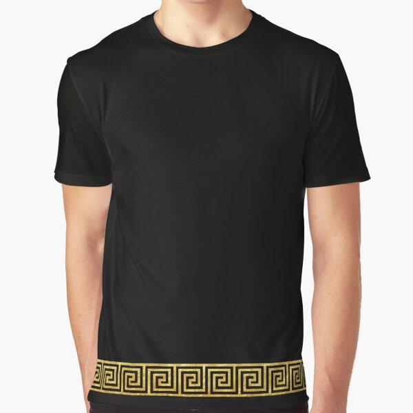 Gold Greek Key Graphic T-Shirt