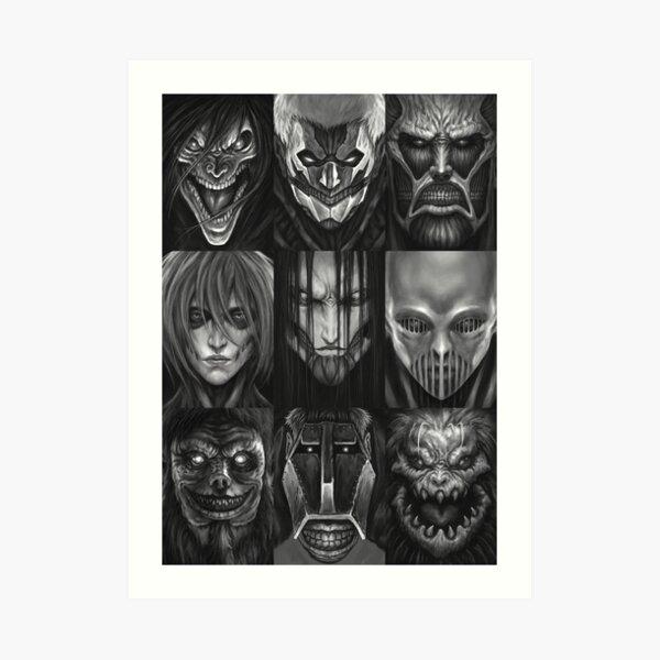 All Titan: Attack on Titan Art Print