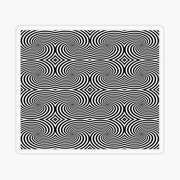 Op-Art Transparent Sticker