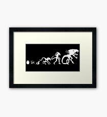 Alien Evolution Framed Print