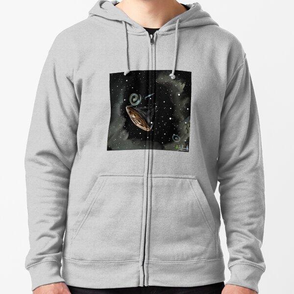 Lonely Interplanetary Traveler  Zipped Hoodie