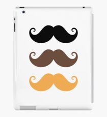 Mustache collection: black, brown and blond iPad Case/Skin