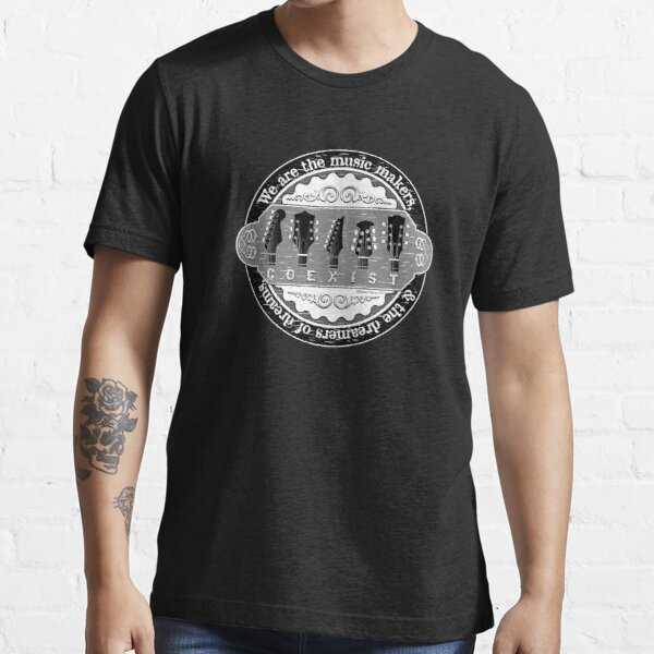 Guitar Coexist - Black and White Essential T-Shirt