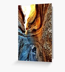 Curves of Slot Canyons Greeting Card
