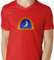 Night Window Mens V-Neck T-Shirt