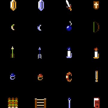 Zelda - The Items Without Text by idaspark