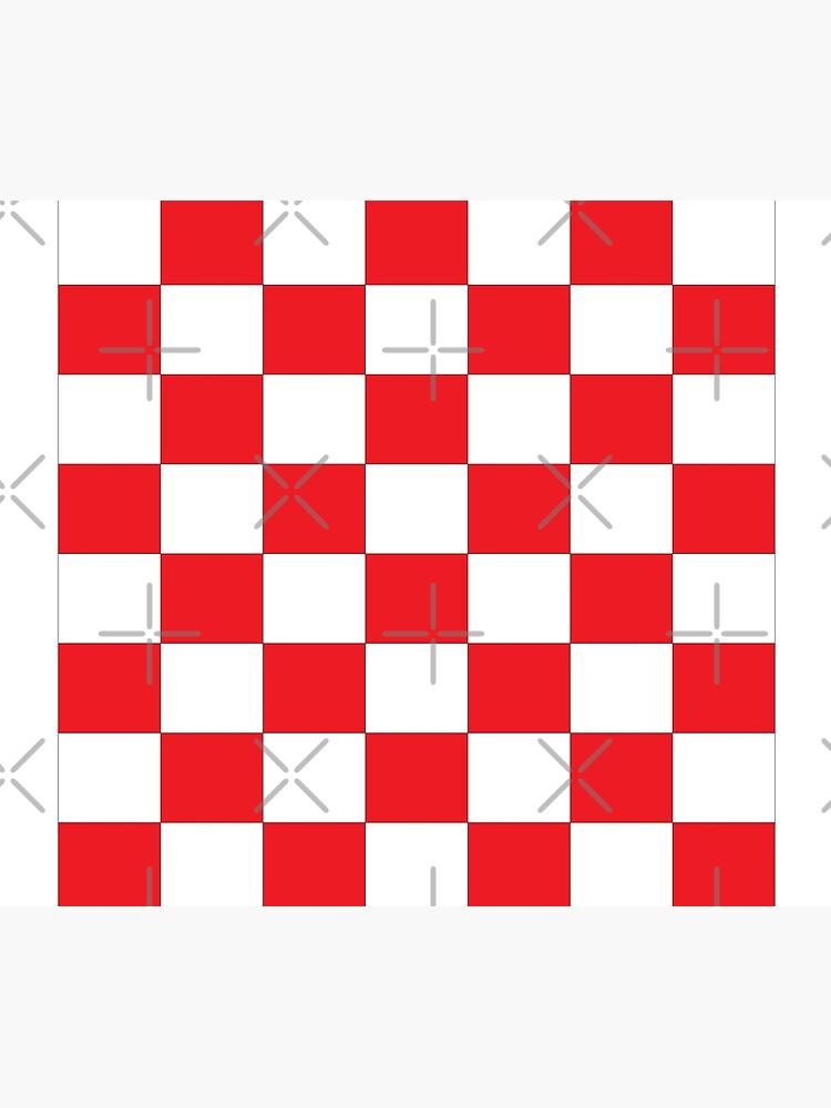 Shahovnia Sahovnica Croatian Checkerboard Hrvatsko Checky by dustydragicevic