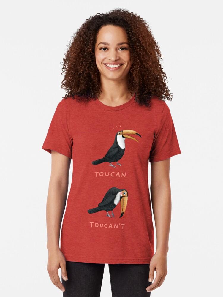 Alternate view of Toucan Toucan't Tri-blend T-Shirt