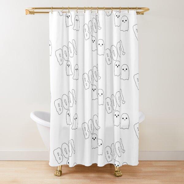 Cute Boo Ghost Shower Curtain