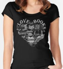 LOVE BOOKS Women's Fitted Scoop T-Shirt
