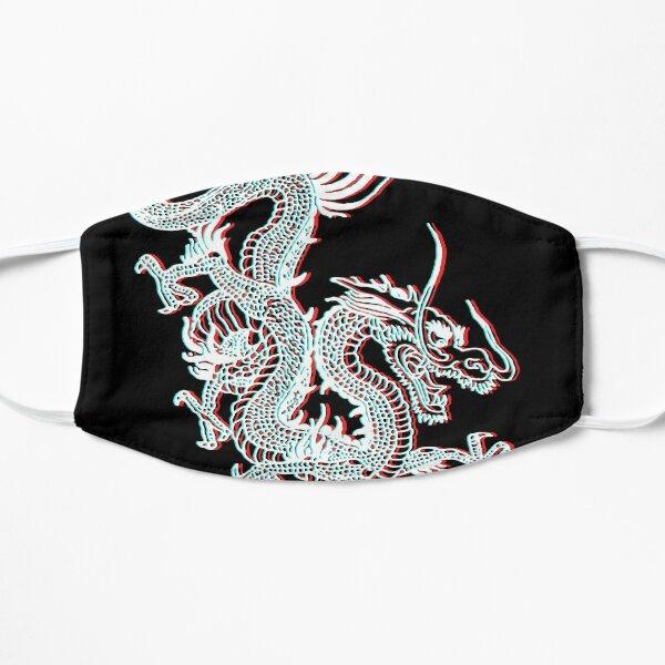 Chinese Dragon Glitch Flat Mask