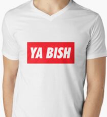 Ya Bish Typography Men's V-Neck T-Shirt