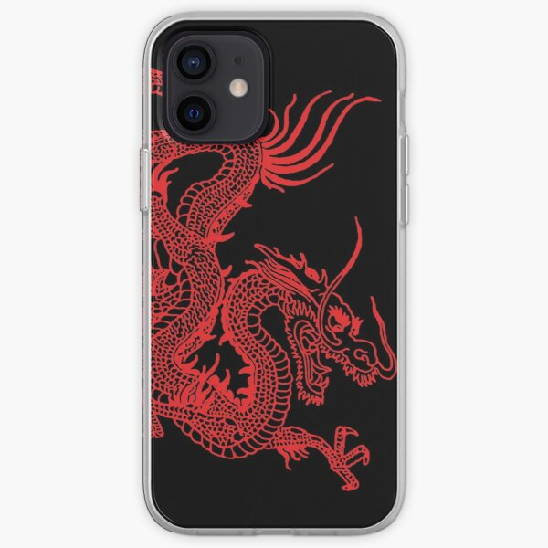 Red Chinese Dragon iPhone Soft Case