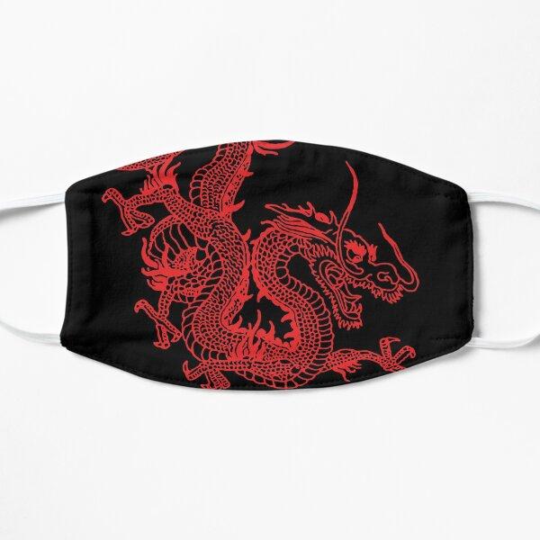 Red Chinese Dragon Flat Mask