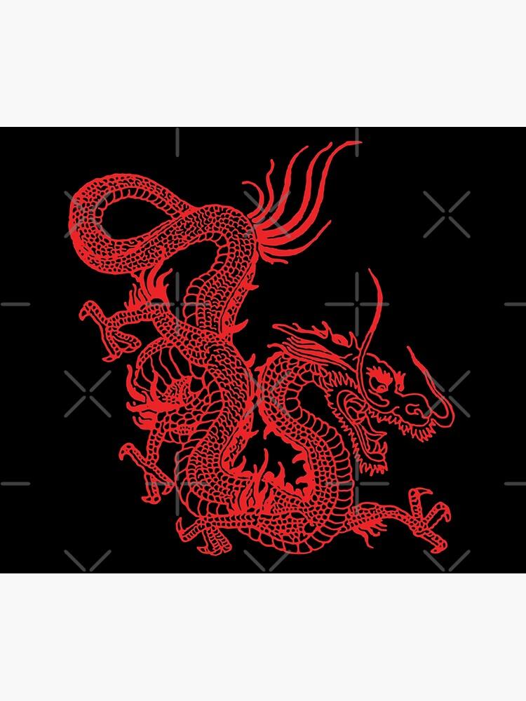 Red Chinese Dragon by EddieBalevo