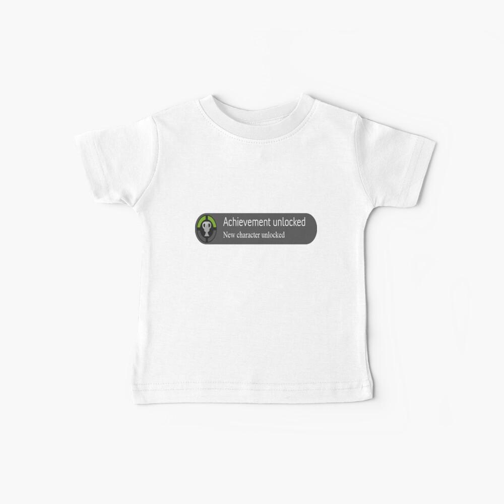 logro desbloqueado Nuevo personaje desbloqueado Camiseta para bebés