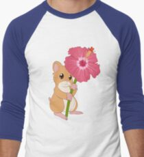 Hamster Hibiscus Men's Baseball ¾ T-Shirt