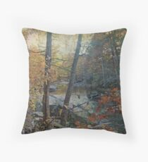 Unami Creek As Autumn Settles In Throw Pillow