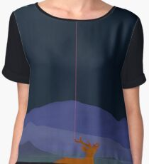Lunatic deer Chiffon Top