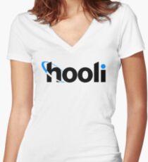 Hooli  Women's Fitted V-Neck T-Shirt