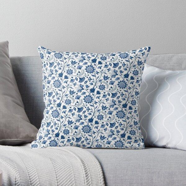 Chintz blue Throw Pillow