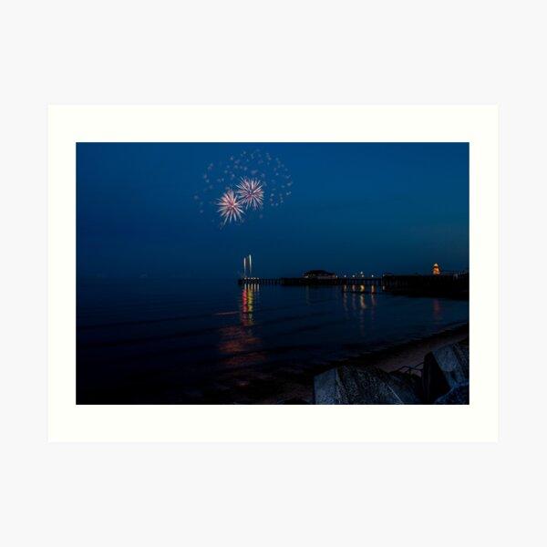 Fireworks At Clacton Art Print