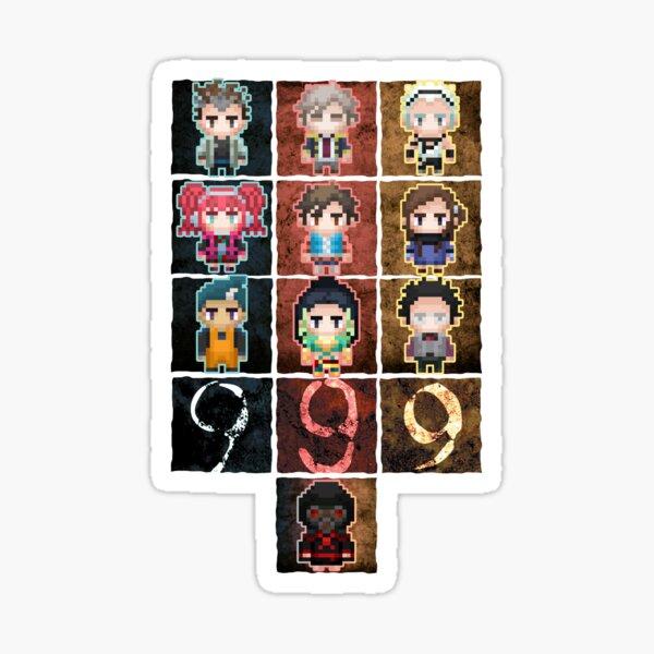 9 sprites 9 persons 9 pixels Sticker