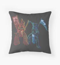 Samurai & Knight Throw Pillow