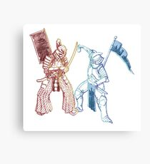 Samurai & Chevalier Canvas Print
