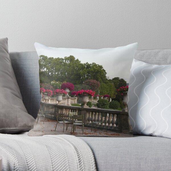 Jardin du Luxembourg, Paris flowers  Throw Pillow